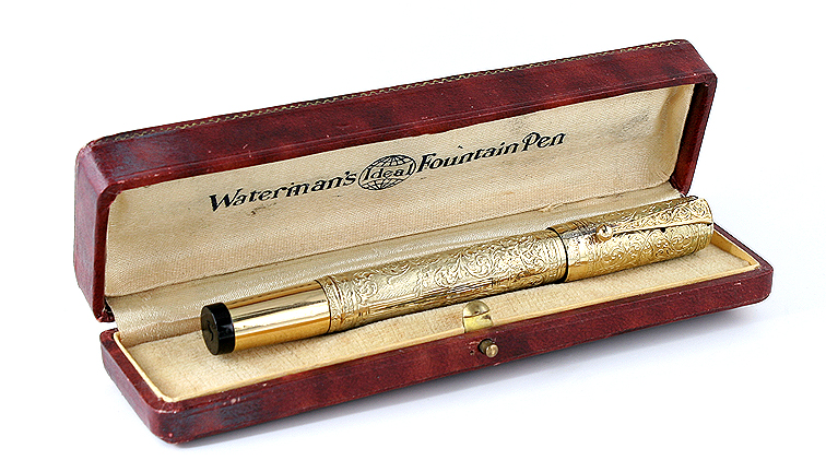 Check out the color of this MontBlanc Safety pen!
